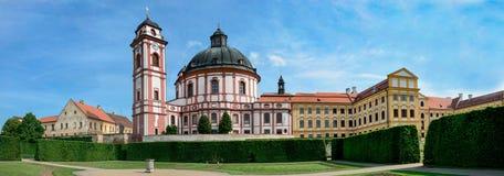 State castle Jaromerice nad Rokytnou / Czech republic. Castle with castles green garden Stock Image