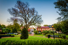 State Circle, in downtown Annapolis, Maryland. stock photos