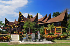 State Cultural Complex. Is located near second exit from the North-South Expressway to Seremban, this  stands out for Minangkabau architectural styles of its Stock Images