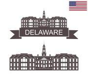 State of Delaware. Delaware state capitol building vector illustration