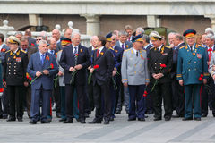 State Duma deputies and veterans Stock Photo