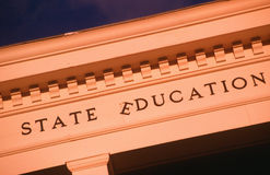 State Education building, in decline. Education in decline, Santa Fe, New Mexico royalty free stock image