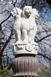 Lion Capital of the Pillars of Ashoka from Sarnath. Royalty Free Stock Photography