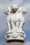Lion Capital of the Pillars of Ashoka from Sarnath. Royalty Free Stock Photo