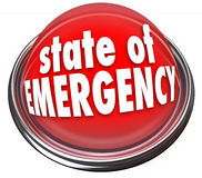 State of Emergency Red Flashing Light Button Warning Danger Cris Stock Images