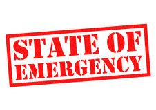 STATE OF EMERGENCY Royalty Free Stock Image