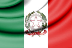 State Ensign of Italy. Royalty Free Stock Photos