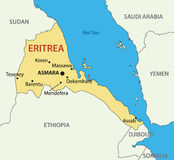 State of Eritrea - map Stock Image