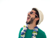 He is in a state of euphoria. Royalty Free Stock Photography