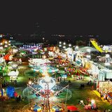 State fair from above royalty free stock photography