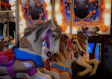 State Fair Carnival Merry Go Round Horses royalty free stock image