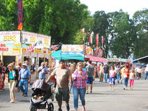 State Fair Crowd. Royalty Free Stock Photography
