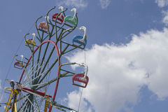 State Fair Ferris Wheel Against a Clear Blue Sky Royalty Free Stock Photos
