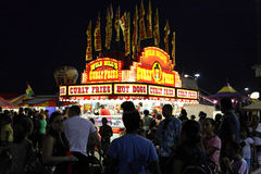 State Fair at night royalty free stock photography