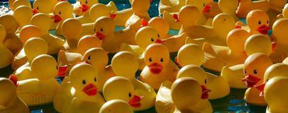 State Fair Rubber Duck Game stock images