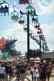 State Fair Ski Lift Stock Image