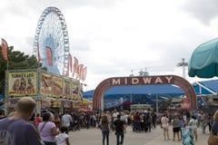 State Fair Texas Midway 2017. State Fair Texas Mid way and Ferris Wheel, Dallas Fair Park USA 2017 royalty free stock photos