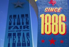 State Fair of Texas since 1886 sign. Dallas USA royalty free stock image