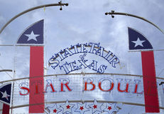State Fair Texas sign and flags Stock Photos