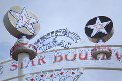 State Fair Texas. Sign at Fair Park  background Royalty Free Stock Photo
