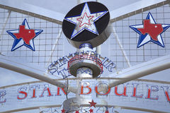 State Fair Texas sign ,star, map. State Fair Texas sign at Fair Park  background Royalty Free Stock Images