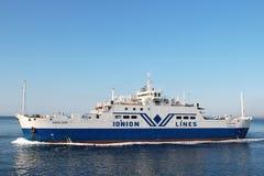 State ferry-boat to Corfu Stock Photo