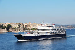 State ferry-boat to Corfu Stock Image