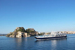 State ferry-boat to Corfu Royalty Free Stock Photo
