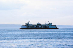 State Ferry on Puget Sound in early morning. Washington state Royalty Free Stock Photo