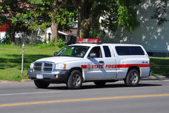 State Fire Van Royalty Free Stock Photos