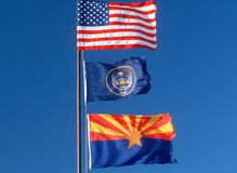 State Flag of Arizona Stock Photos