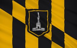 State Flag of Baltimore - an independent city in the east of the. The national flag Baltimore - an independent city in the east of the United States, the large Royalty Free Stock Image