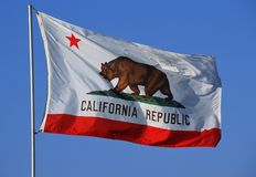 State Flag of California Royalty Free Stock Photo