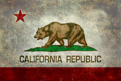 State flag of California, Vintage retro version Stock Image