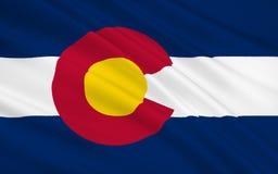 State Flag of Colorado Royalty Free Stock Photos