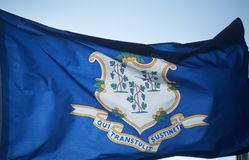 State Flag of Connecticut Royalty Free Stock Photography