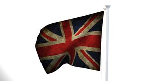 The state flag, 3d image, is fluttering in the wind. On a white background Royalty Free Stock Images