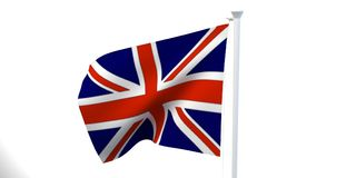 The state flag, 3d image, is fluttering in the wind. On a white background Royalty Free Stock Photo