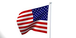 The state flag, 3d image, is fluttering in the wind. On a white background Stock Photo