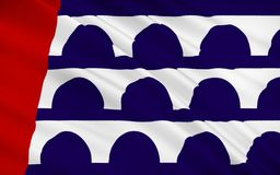 State Flag of Des Moines - city in the USA in the central part o. The state flag of Des Moines - `city of monks` - a city in the USA in the central part of Iowa Royalty Free Stock Photos