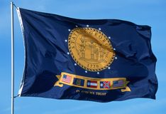 State Flag of Georgia Royalty Free Stock Images