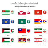 State flag that has not been acknowledged Royalty Free Stock Photography