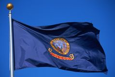 State Flag of Idaho Stock Photography