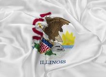 State Flag of Illinois Stock Photo
