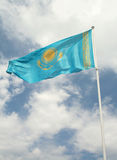 The State Flag of Kazakhstan Royalty Free Stock Photography