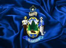 State Flag of Maine Royalty Free Stock Image
