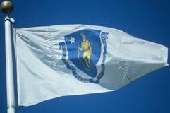 State Flag of Massachusetts Stock Image
