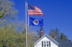 State Flag of Minnesota Royalty Free Stock Photos