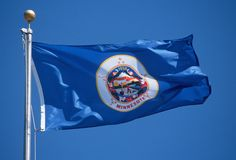 State Flag of Minnesota Royalty Free Stock Image