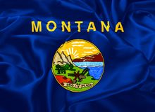 State Flag of Montana. The national flag of the State of Montana, Helena - United States Stock Photo
